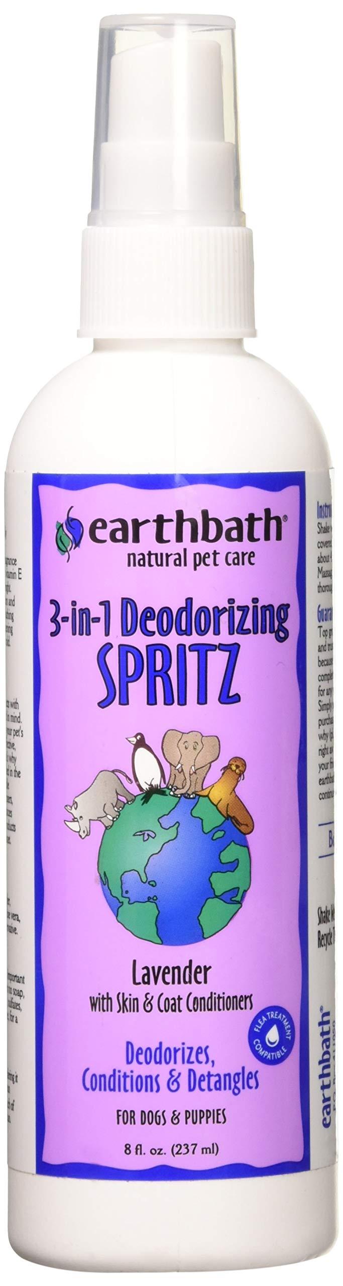 Earth Bath Lavender 3 - in - 1 Deodorizing Spritz for Dogs 8oz