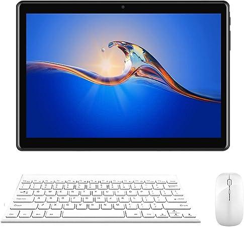 Tablet 10 Pulgadas 2GB+32GB, Quad Core Dual SIM 3G Tableta de función de llamada ,Android 7.0 V Mobile , 5500 mAh,Diseño de superficie curva 2.5D, ...