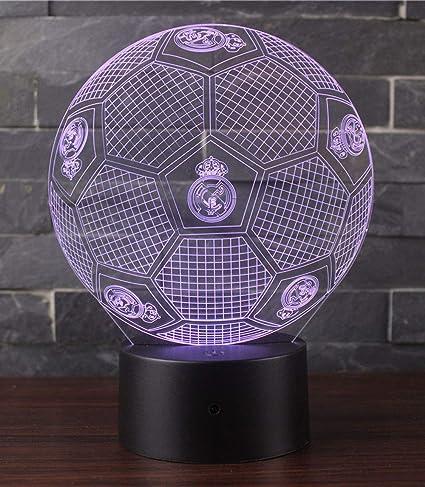 3D Lámpara de Escritorio Win-Y LED 7 del tacto del color de la lámpara del dormitorio del hogar decoración de la oficina para los niños y regalo de ...