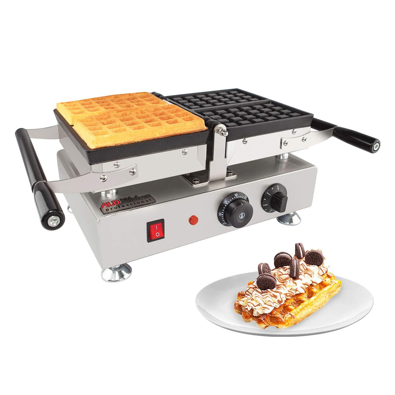 ALDKitchen Waffle Maker with Removable Plates   Swing Type Belgian Waffle Iron   2 Square-Shaped Waffles   110V