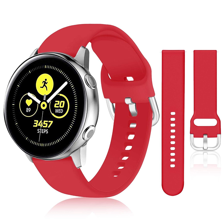 Malla Para Reloj Galaxy Watch Active 40mm (roja)