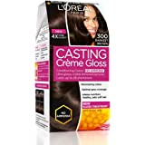 L'Oreal Paris Casting Creme Gloss, Darkest Brown 300, 87.5g+72ml