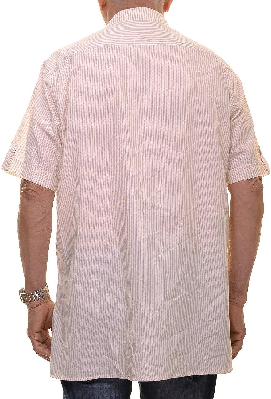 Sean John Mens Two Pocket Front Short Sleeve Casual Shirt Size 3XL