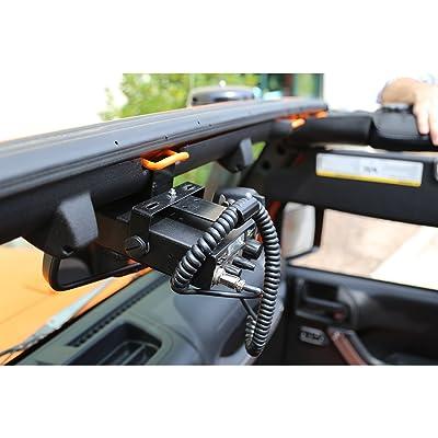 Rugged Ridge 11503.95 CB Radio Mount for 2007-2020 Jeep Wrangler JK Models: Automotive