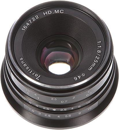 7artisans 25mm F1.8 Manual Focus MF Prime Lens for Panasonic ...