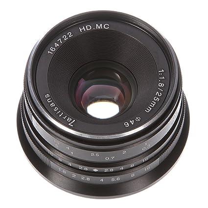 amazon com 7artisans 25mm f 1 8 manual focus mf hd mc prime lens rh amazon com Sony NEX 5 Lens sony nex 5 manual focus tutorial