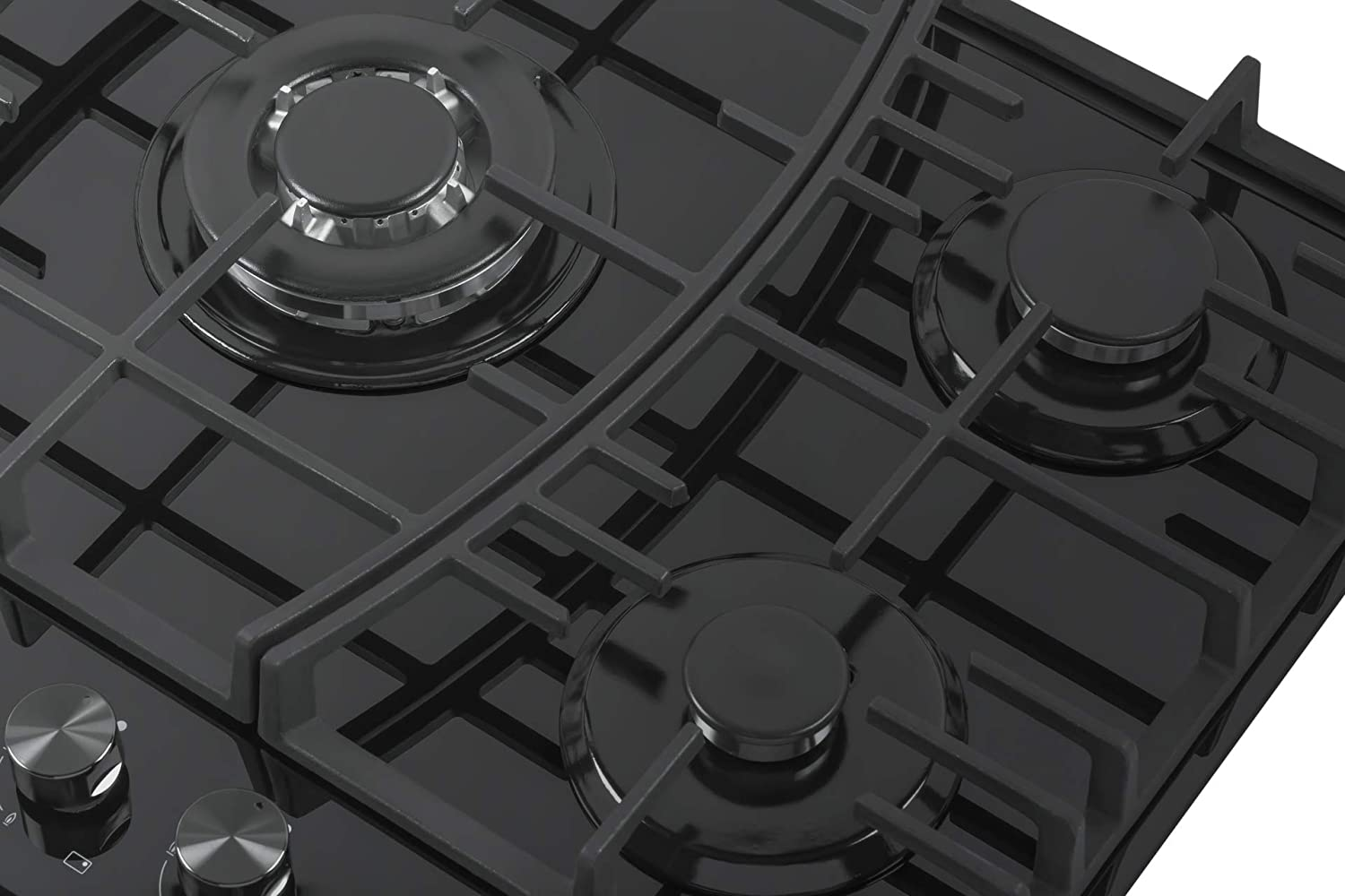 Empava 30 Black Tempered Glass 5 Italy Sabaf Burners Stove Top Gas Cooktop EMPV-30GC918