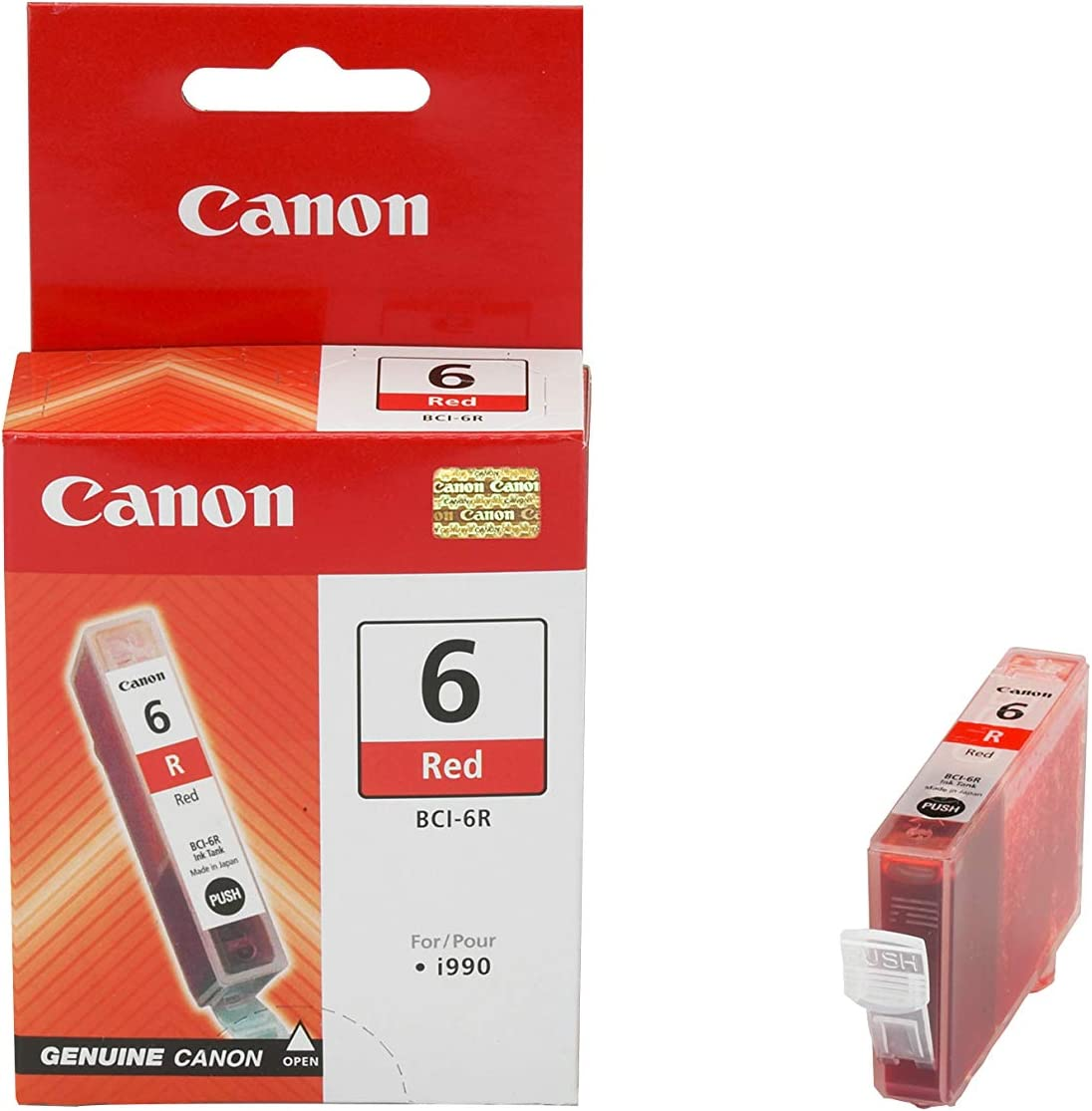 Canon Tintenpatrone Bci 6 R Rot 15 Ml Original Für Tintenstrahldrucker Bürobedarf Schreibwaren