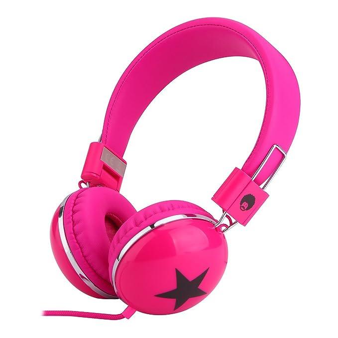22 opinioni per RockPapa Cuffie regolabili per bambini, con stella, cuffione sopra l'orecchio,
