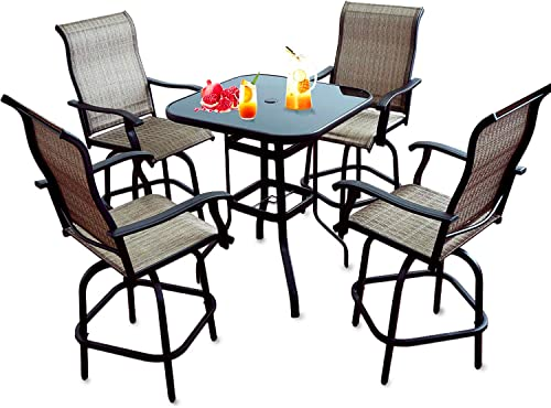 5 PC Patio Metal Dining Set