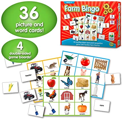 The Learning Journey Match It! Farm Bingo, Multi Color
