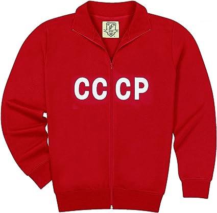 World of football veste de survêtement rétro cCCP m: Amazon