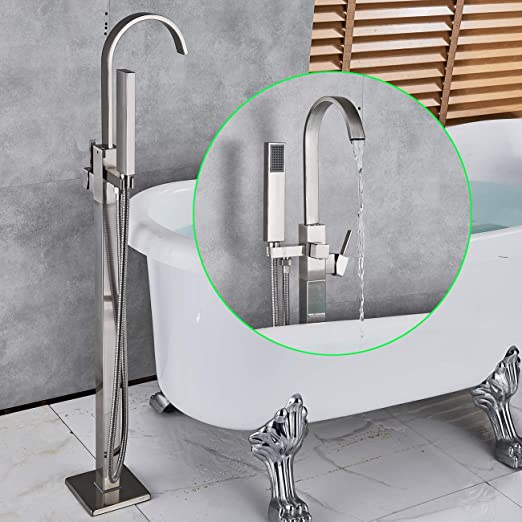 Bathroom Bathtub Faucet 180° Swivel Wall Mount Tub Filler Spout Mixer Tap Chrome