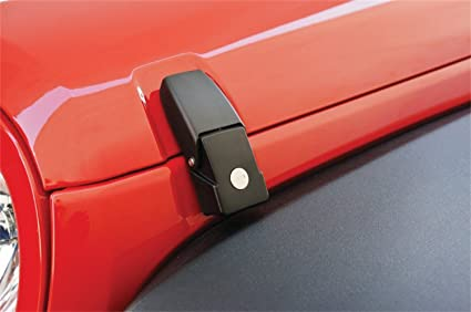R&age Products 76336 Black Locking Hood Catch Kit (for Jeep Wrangler JK (pair) & Amazon.com: Rampage Products 76336 Black Locking Hood Catch Kit (for ...