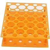 50gut Zentrifuge Tube Rack für 10ml/15ml/LSF15Labor Kunststoff Tube Rack Halter (One Stück), Orange, 1