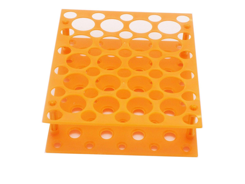 50 Well Centrifuge Tube Rack for 10ml/15ml/50ml Laboratory Plastic Tube Rack Holder(Pack of one) (Orange) Muhwa eCommerce Co. Ltd