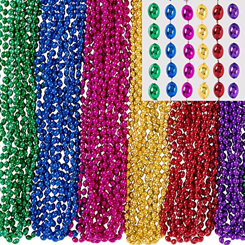 Amscan Beads in Bulk Mardi Gras Bead Necklace,
