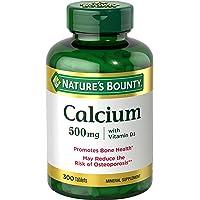 Calcium & Vitamin D3 by Nature's Bounty, Immnue Support & Bone Health, 500mg Calcium...