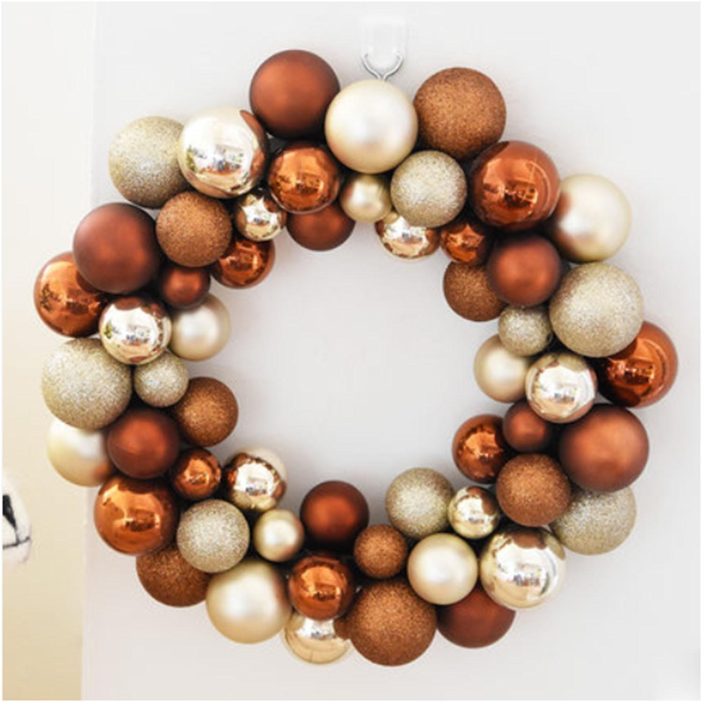 OOFYHOME Christmas ball, decorative ball, string flower ring Hydrangea, decorative pendant, Christmas tree decoration, window scene props lob , H