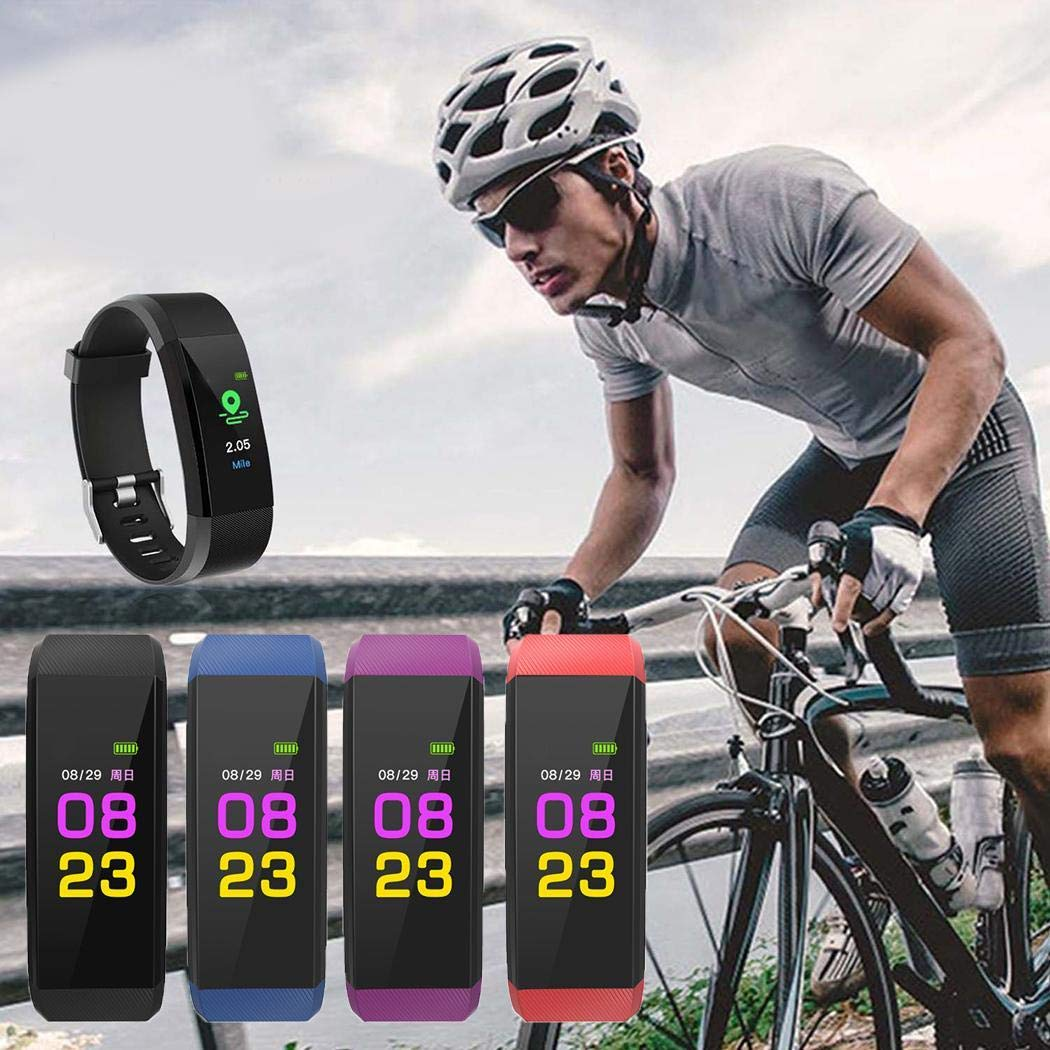 Kizaen Fitness Tracker IP67 Waterproof Pedometer for Android and iOS Smartphone Step Counter Heart Rate Monitor Activity Tracker with Connected GPS Tracker Sleep Monitor