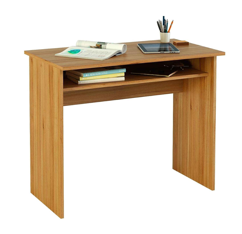 Mesa de escritorio 90 cm de ancho color nogal para for Mesas para estudiar