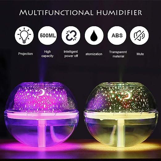 GAOJI Luz LED Proyector USB de Colores, Humidificador, Proyección ...
