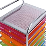 10 Drawer Rolling Storage Cart Scrapbook Paper