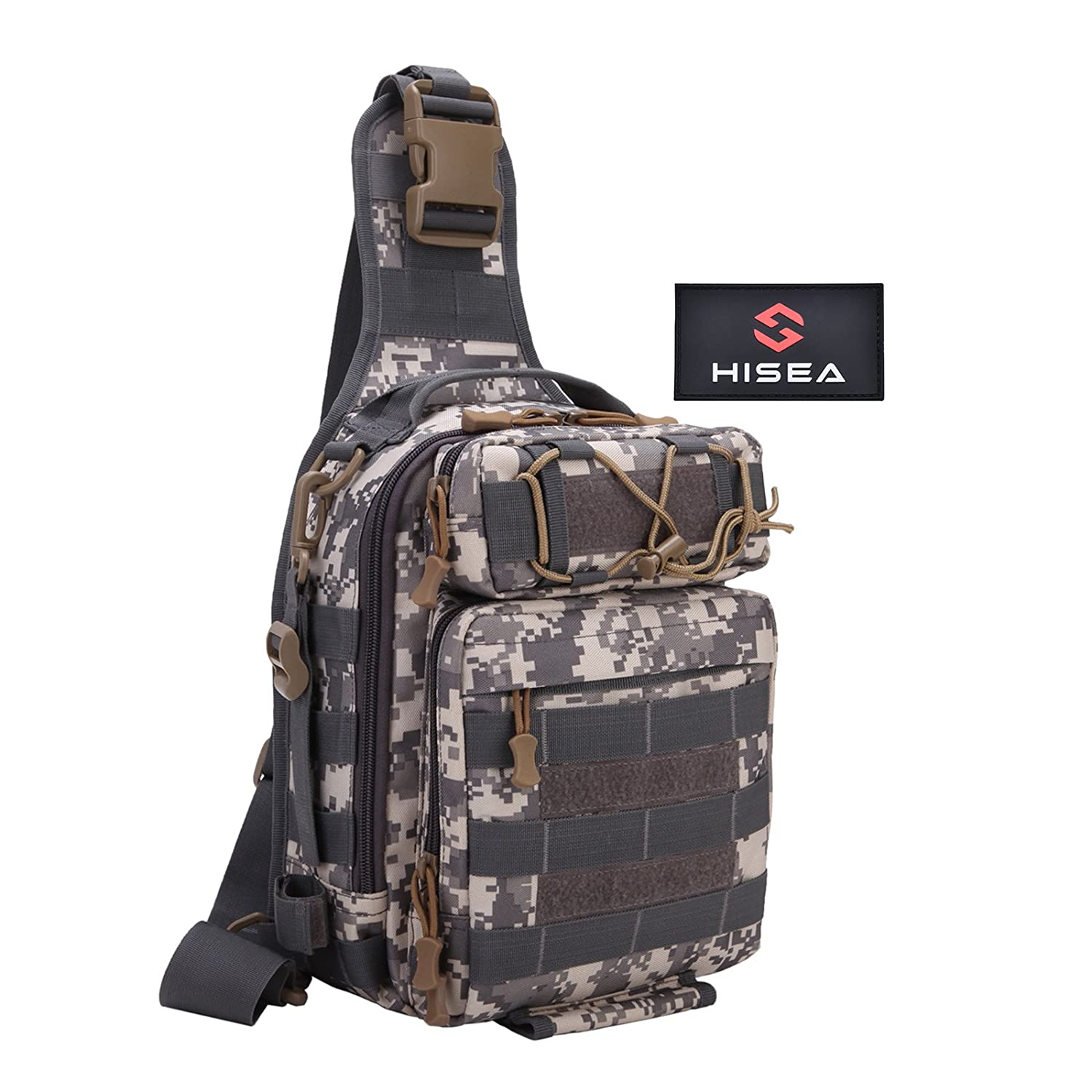 hisea military tactical sling bag assault pack army molleバグアウト