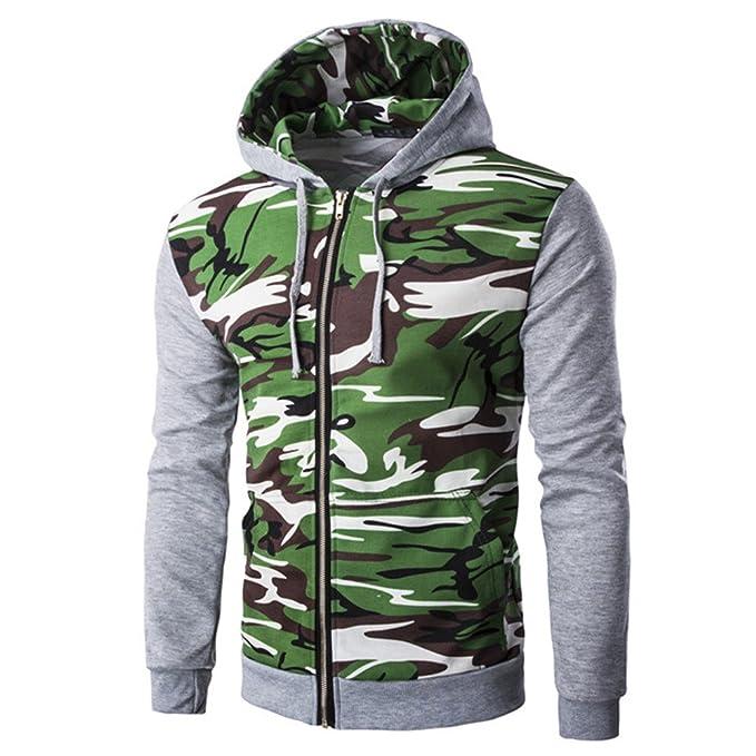 COCO clothing Camuflaje Chaquetas Hombre Encapuchado Casual Jacket Hooded Sudaderas Capucha Abrigos Juvenil Coat Otoño Invierno: Amazon.es: Ropa y ...