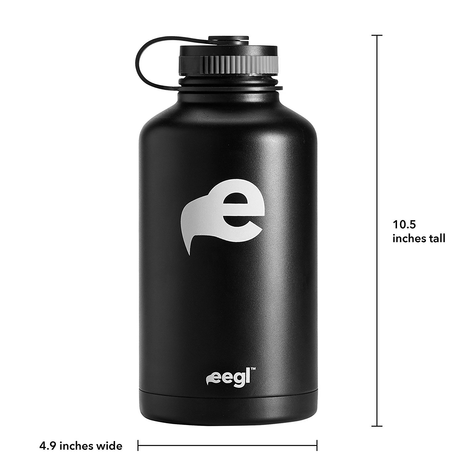 Stainless Steel Insulated Beer Growler - 64 oz Water Bottle - Includes Carry Case - Double Wall Vacuum Sealed Wide Mouth Design. Five Year Guarantee! Perfect Temperature Control from eegl by eegl (Image #2)