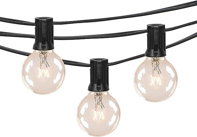 25FT G40 Globe Outdoor String Lights Vintage Backyard Patio Lights with 25 Bulbs