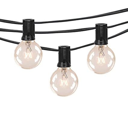 Outdoor G40 String Lights, Vintage Backyard Patio Lights with 25 Clear  Globe Bulbs-UL - Outdoor G40 String Lights, Vintage Backyard Patio Lights With 25
