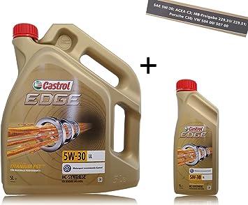 1 L 5 L 6 Liter Castrol Edge Fluid Titanium 5w 30 Ll Motoröl Auto