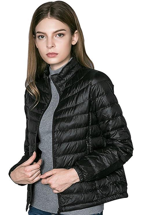 ae2f210846d Oangel Women s Down Jacket Insulated Ultra Lightweight Packable Puffer Down  Coat(L