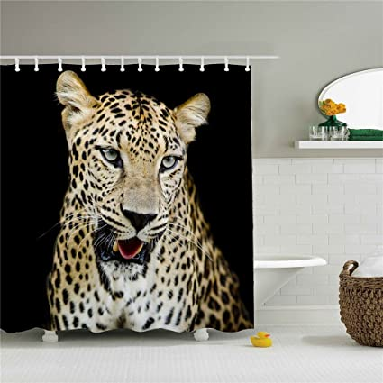 Image Unavailable Not Available For Color Leopard Shower Curtain