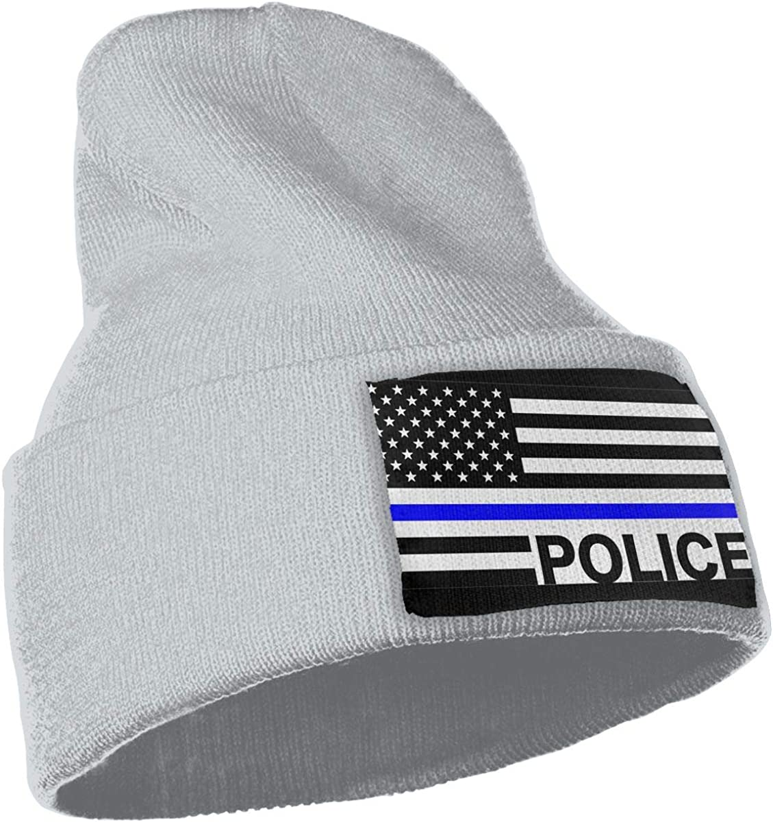 WHOO93@Y Mens and Womens 100/% Acrylic Knitting Hat Cap USA Flag Police Warm Skull Beanie