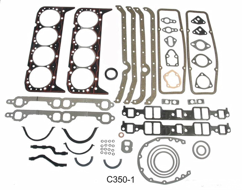 Master Engine Rebuild Kit FITS 1986-1992 Chevrolet SBC 350 5.7L V8 w//Stage-3 HP Cam /& Flat-Top Pistons
