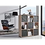 wohnling design b cherregal modern holz wei mit t ren geschlossen sonoma eiche standregal. Black Bedroom Furniture Sets. Home Design Ideas