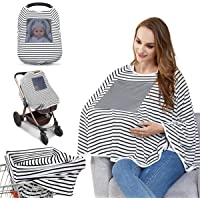 Baby Nursing Cover & Nursing Poncho - Multi Use Cover for Baby Car Seat Canopy, Shopping Cart Cover, Stroller Cover, 360…