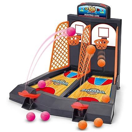 Amazon.com: hobull Juego de baloncesto Toy 2-player Table ...