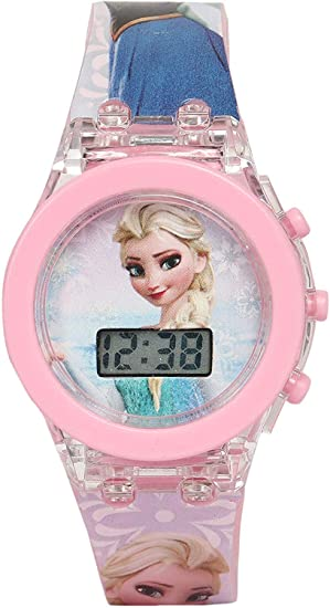 FAVELA Hello Kitty/Frozen/Princess Led Glowing Watch for Girls (Random Character) Pack of 1