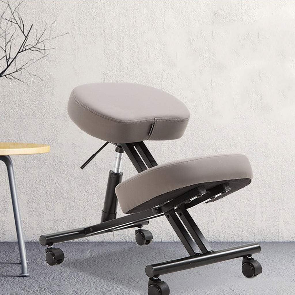QIQIDEDIAN バランスチェア 人間工学膝間付チェア、高さ調節、プーリーで、腰痛整形外科膝のスツールの削減を支援します