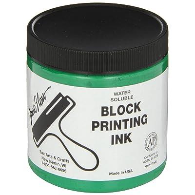 Sax True Flow Water Soluble Block Printing Ink - 8 Ounce Jar - Green: Industrial & Scientific