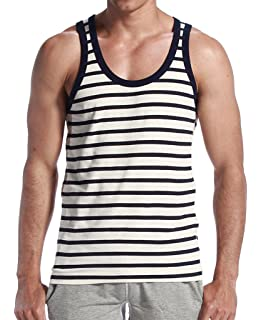 CIC Collection Mens Stripe Hot Sleeveless Vest Tank Top