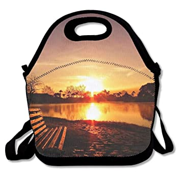 Faverlkujj Sunset Scenery Wallpaper Portable Carry Insulated Lunch Bag