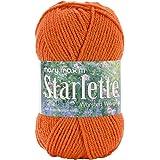 Mary Maxim Starlette Yarn, Burnt Orange