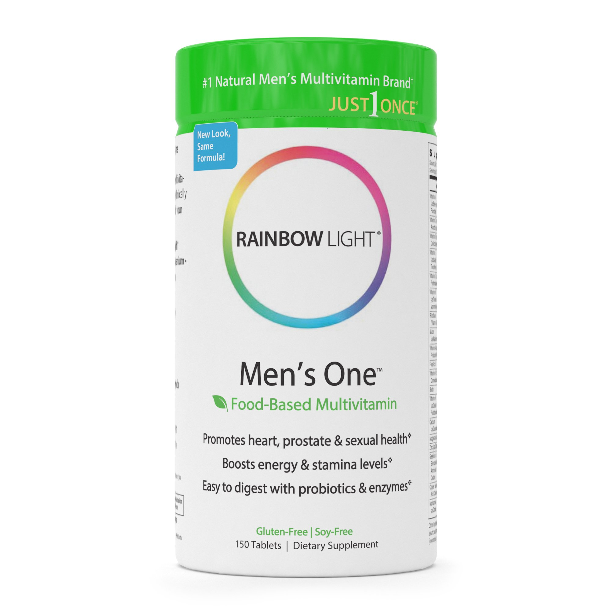 Rainbow Light - Mens One™ Multivitamin - Supports Energy, Stress Management, Heart,