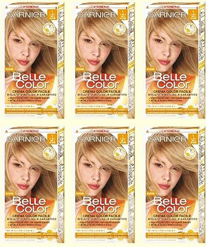 Garnier - Tinte para cabello (6 unidades), color rubio claro y natural