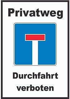 Schild Durchfahrt verboten Sackgasse Navi l/ügt Privatstra/ße 3 mm Alu-Verbund 300 x 200 mm