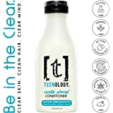 TEENOLOGY Conditioner for Teens - Avoid Forehead Acne and Breakouts - Sulfate and Paraben Free, Noncomedogenic, Natural Botanical Extracts, Vanilla Almond - 16 oz.